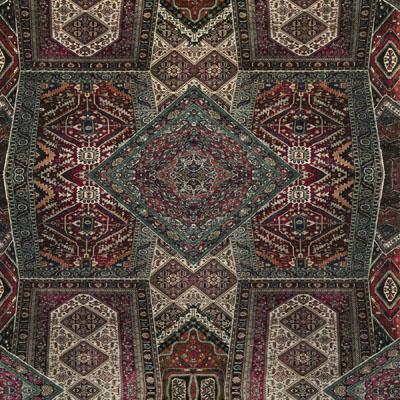Velvet Oriental Carpet/Plum/Teal FD273_H154