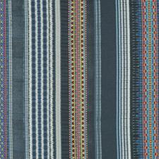 Festival Stripe Embroidery  Indigo FD280-H10