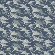 Wild Geese Linen  Indigo FD287-H10