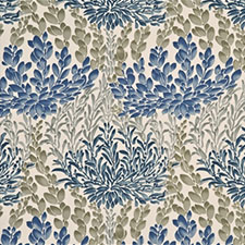 Leaf Cascade Cotton Indigo SKU BP10388.1
