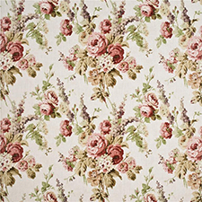 Vintage Floral Pink/Green/Stone SKU FD264-W121