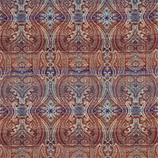 Crescendo Damask Red/Blue/Green SKU FD615-V132